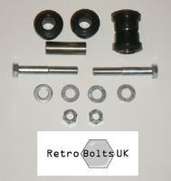 Anti Tramp Bar to Axle - Black Polyurethane Bushes + BOLTS - MK1 ESCORT